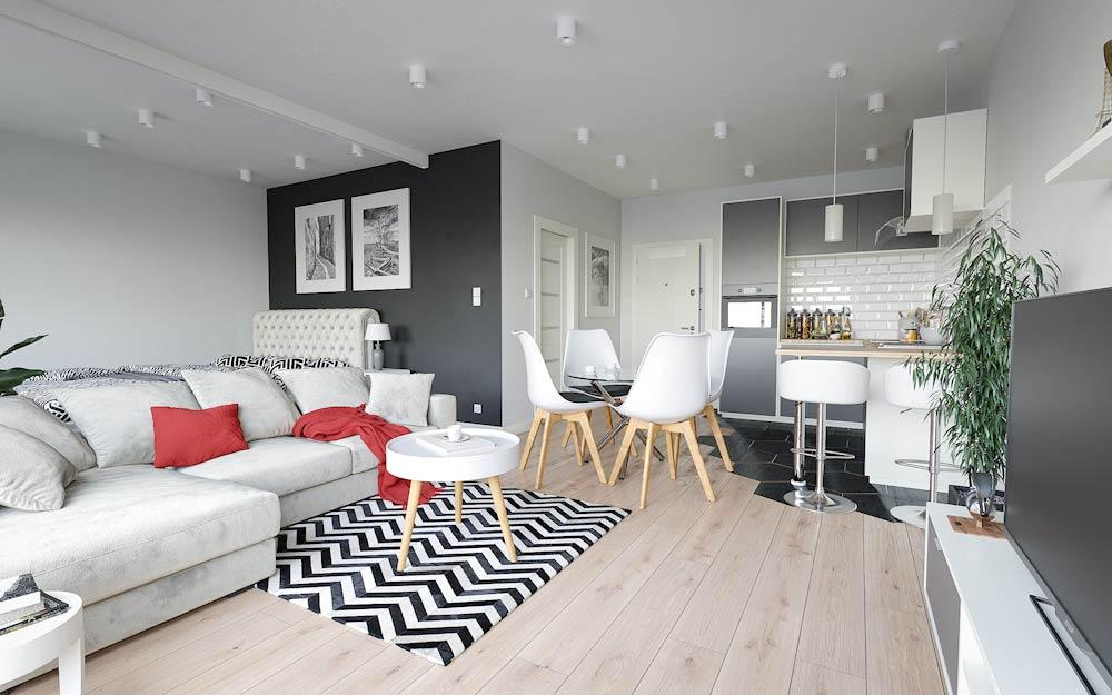 Mały apartament z aneksem kuchennym 32m2