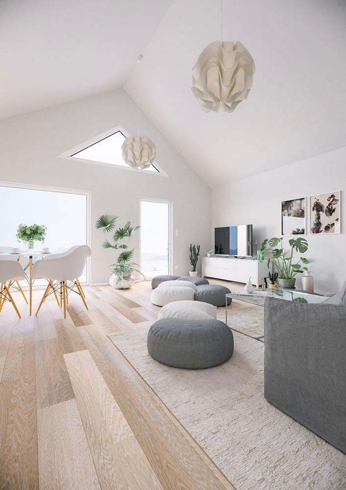 Projekt wnętrza loftowego w stylu skandywskim