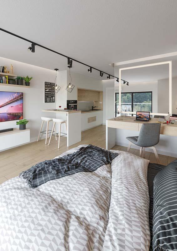 pokoj apartament z aneksem kuchennym v portfoliovbg